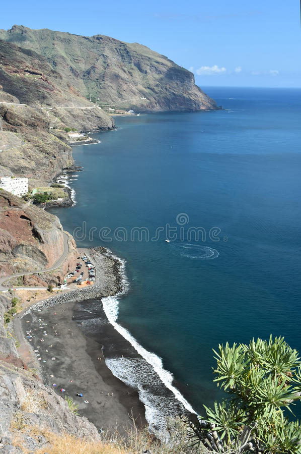 Playa de Gaviotas en Tenerife imagenes de archivo