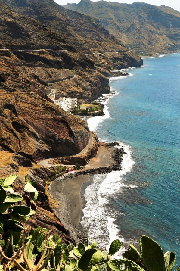Playa de Gaviotas en Tenerife, islas Canarias, España fotografía de archivo libre de regalías
