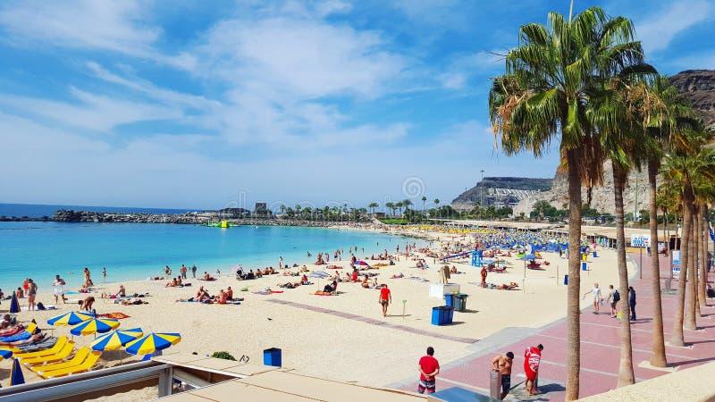 Playa de Gran Canaria España foto de archivo libre de regalías