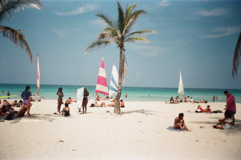 Playa de Guanabo en La Habana/Cuba fotos de archivo