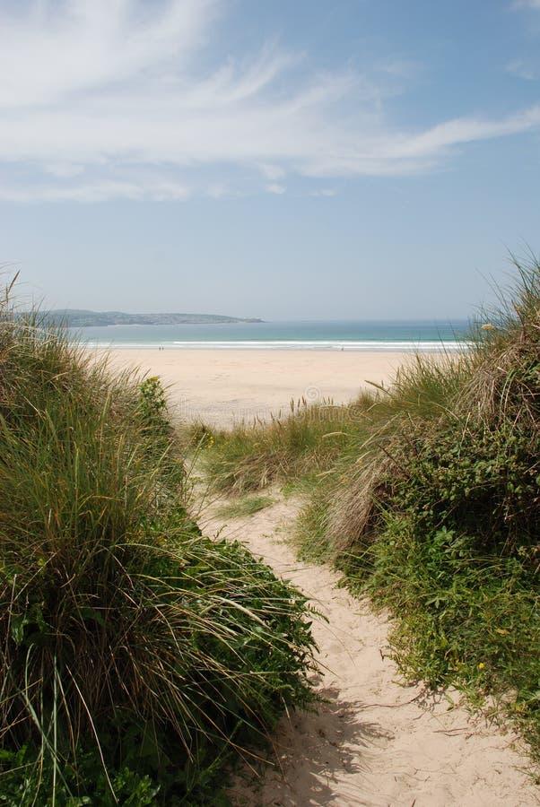 Playa de Gwithian, Cornualles foto de archivo libre de regalías