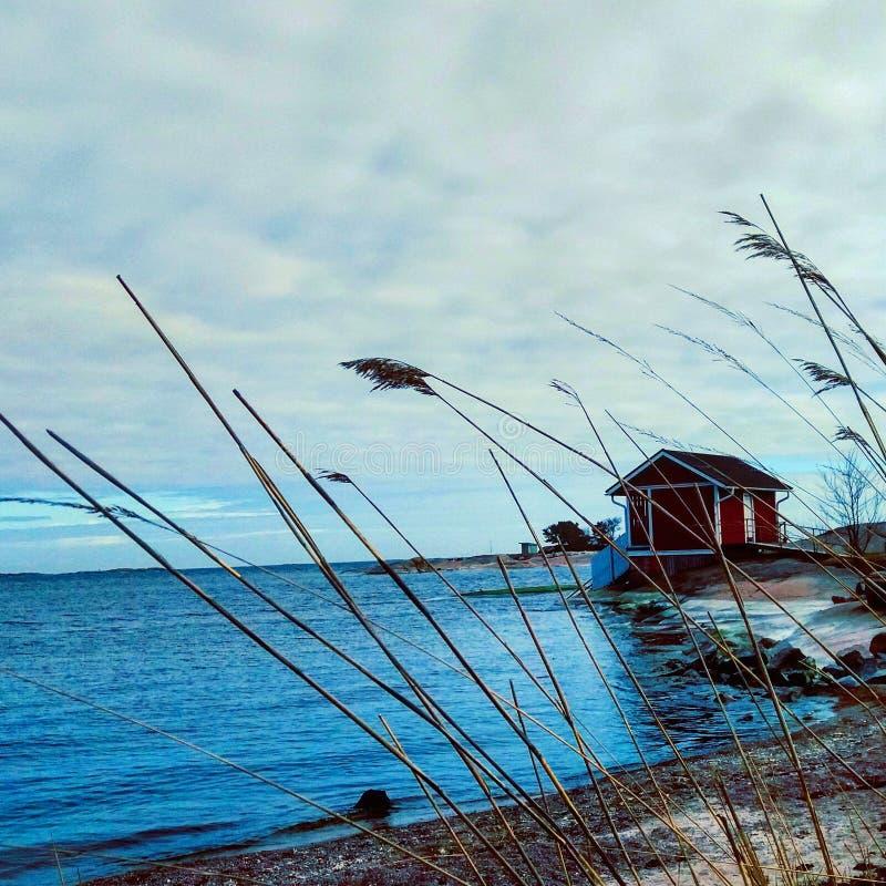 Playa de Hanko fotografía de archivo libre de regalías