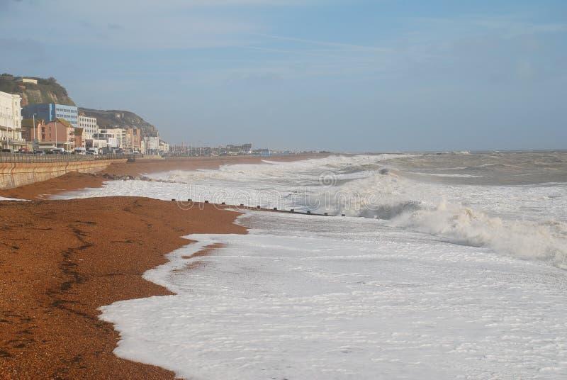 Playa de Hastings, Inglaterra imagen de archivo