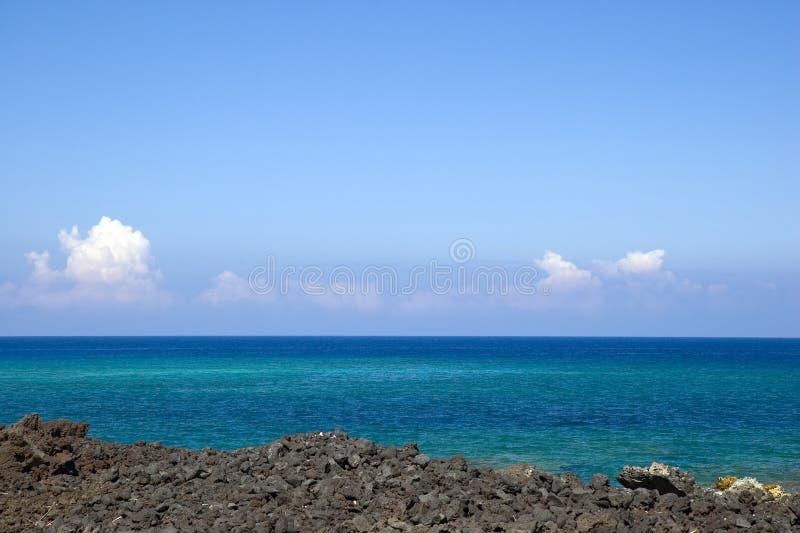 Playa de Hawaii Kona fotografía de archivo