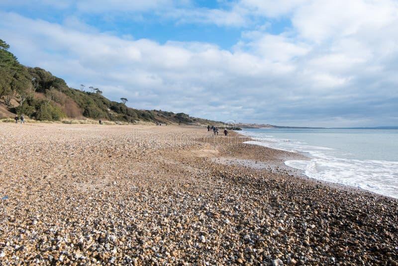 Playa de Highcliffe, Dorset imagen de archivo