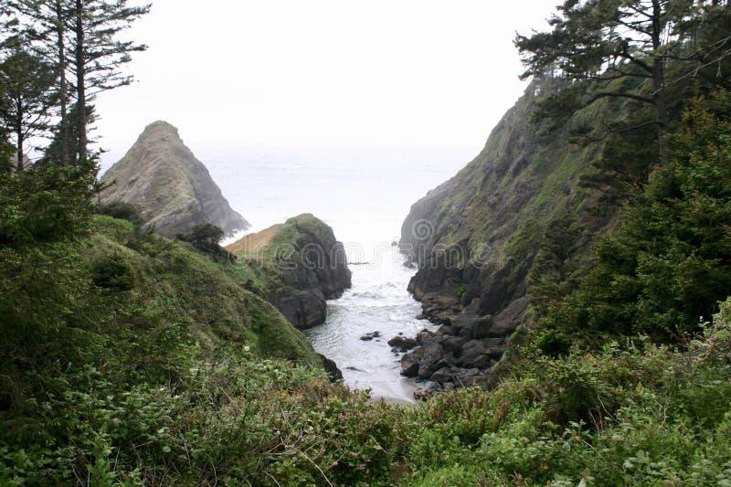 Playa de Hobbit - Oregon fotografía de archivo libre de regalías