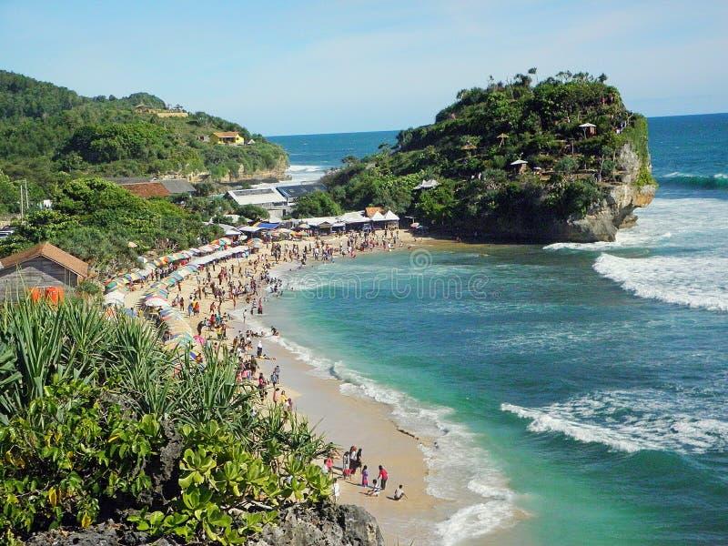 Playa de Indrayanti foto de archivo libre de regalías