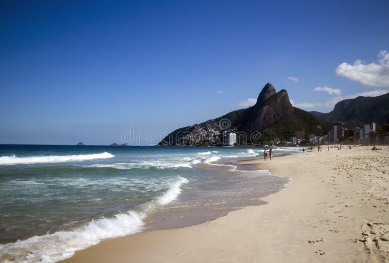 Playa de Ipanema - Rio de Janeiro, el Brasil imagen de archivo