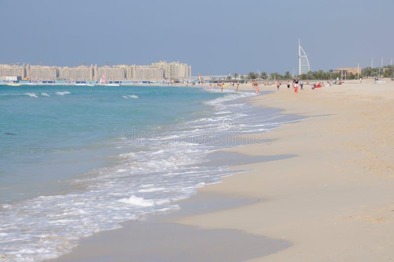 Playa de Jumeirah en Dubai fotos de archivo libres de regalías