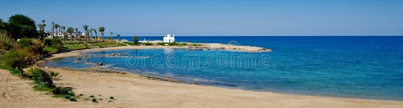 Playa de Kalamies, protaras, Chipre fotografía de archivo libre de regalías