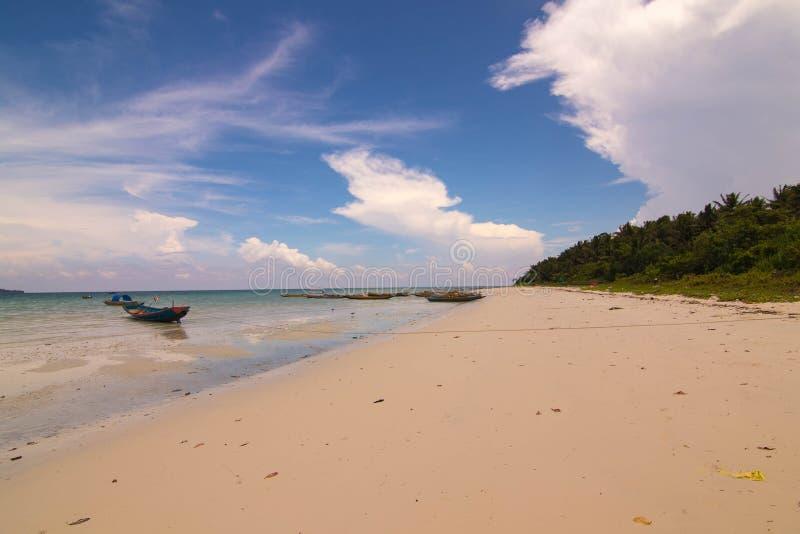 Playa de Kalapattar en la isla de Havelock imágenes de archivo libres de regalías