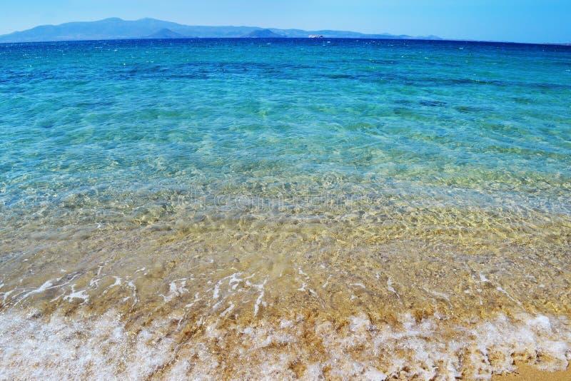 Playa de Kastraki en la isla de Naxos Cícladas Grecia fotos de archivo