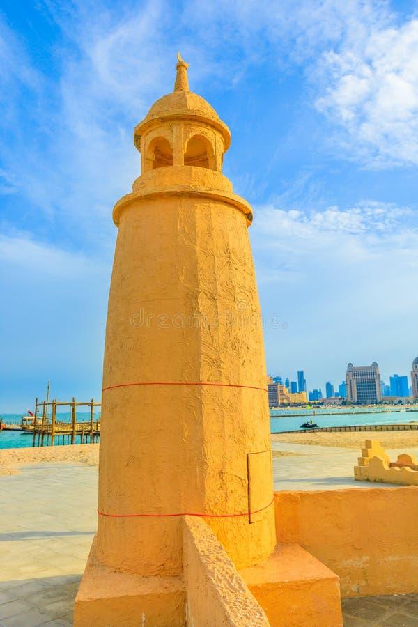 Playa de Katara en el faro de Doha fotografía de archivo libre de regalías