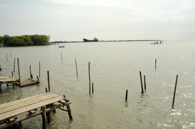 Playa de Kejawanan imagen de archivo
