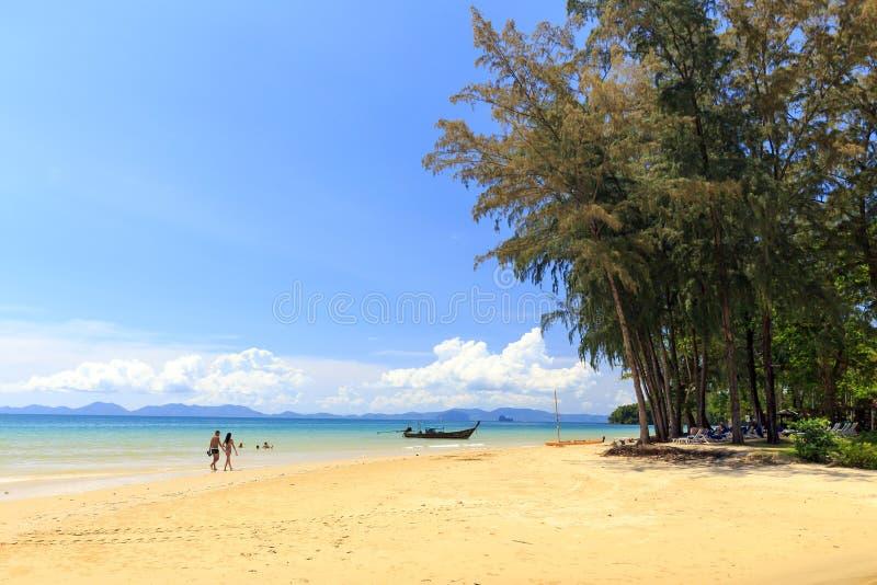 Playa de Khlong Muang, Tailandia fotografía de archivo libre de regalías
