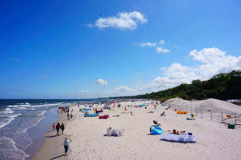 Playa de Kolobrzeg foto de archivo libre de regalías