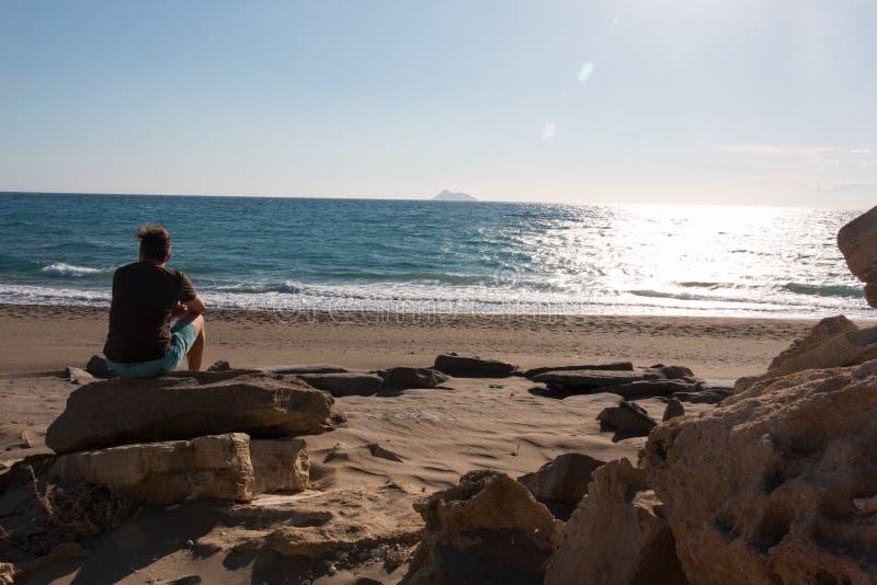 Playa de Komos foto de archivo libre de regalías