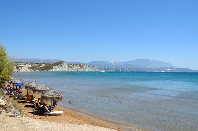 Playa de Kounopetra en Kefalonia, Grecia fotos de archivo libres de regalías