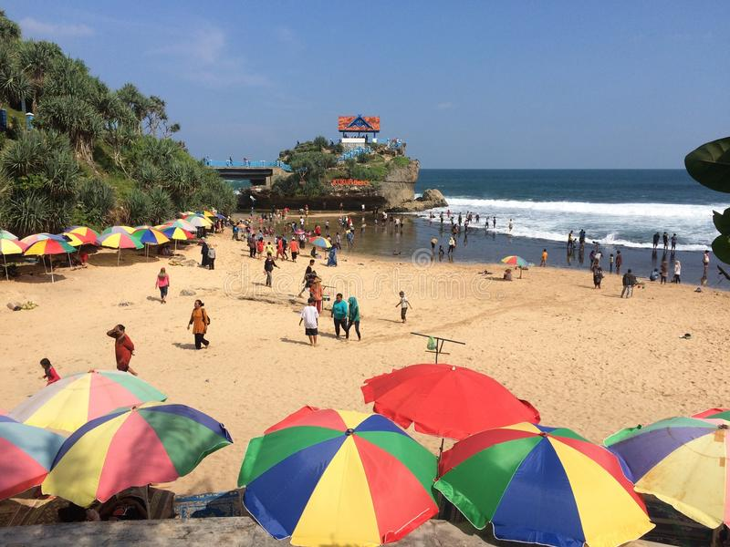 Playa de Kukup foto de archivo