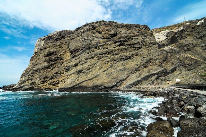 Playa de la Alojera. In La Gomera Canary Islands Spain royalty free stock photography