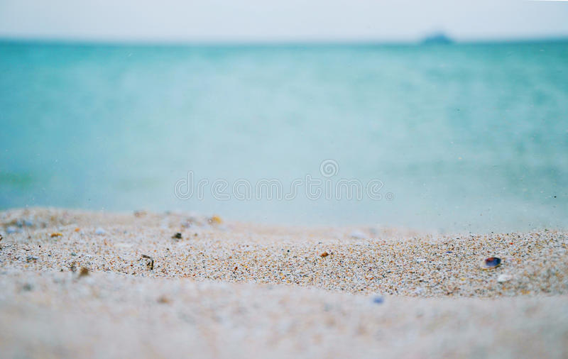 Playa de la arena en Crimea fotografía de archivo