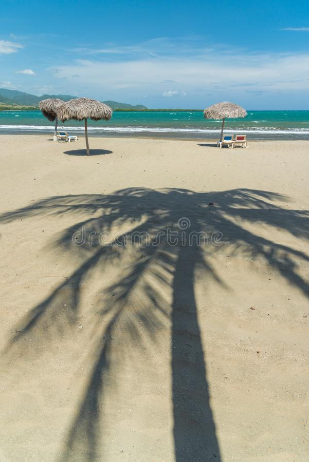 Playa de la arena en Cuba fotografía de archivo