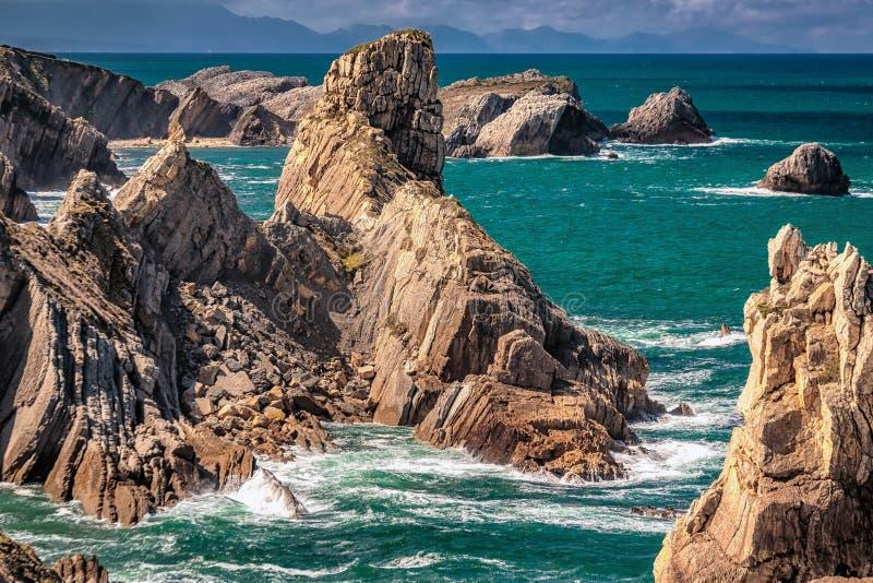 Playa de la ArnÃa imagenes de archivo