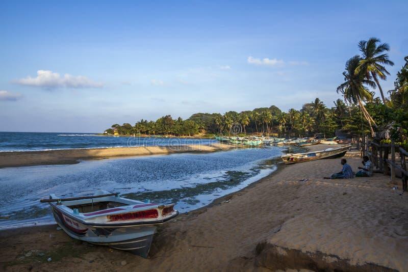 Playa de la bahía de Arugam, Sri Lanka fotos de archivo