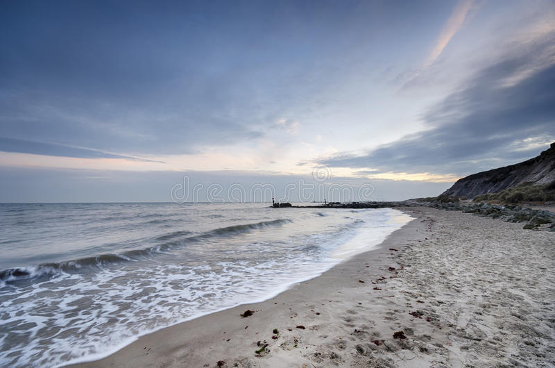 Playa de la cabeza de Hengistbury foto de archivo