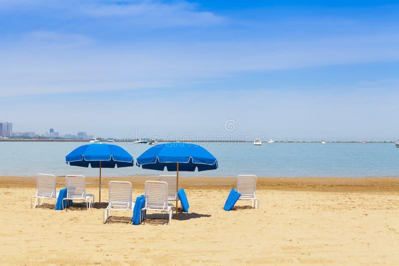 Playa de la ciudad fotografía de archivo