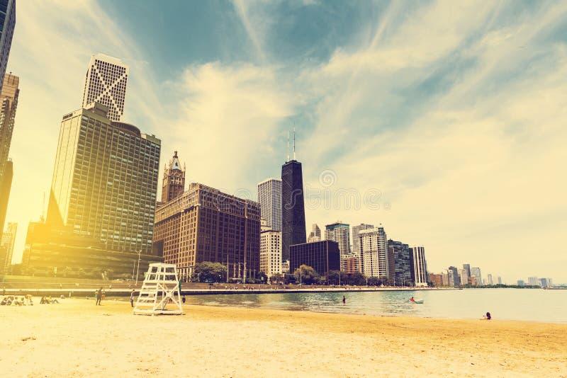 Playa de la ciudad foto de archivo