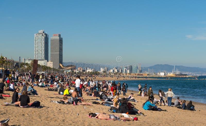 Playa de la ciudad de Barcelona fotografía de archivo libre de regalías