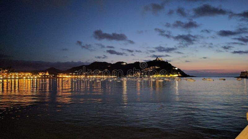 Playa de la Concha, Spain royalty free stock photography