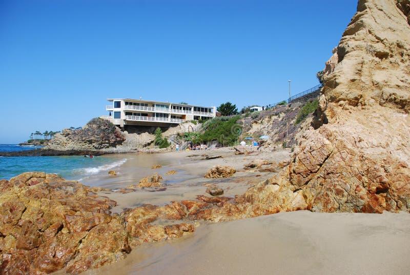 Playa de la ensenada de los buceadores, Laguna Beach, California fotografía de archivo libre de regalías