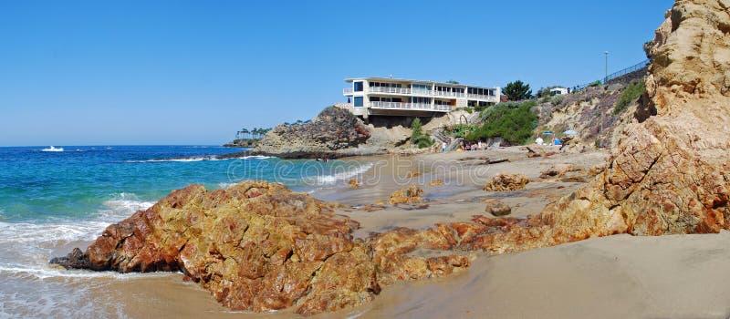 Playa de la ensenada de los buceadores, Laguna Beach, California imagenes de archivo