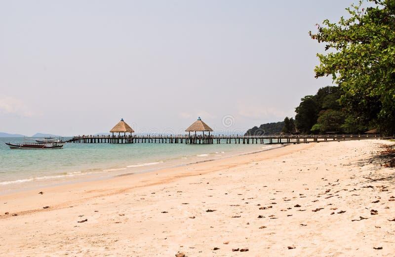 Playa de la independencia en Camboya fotografía de archivo