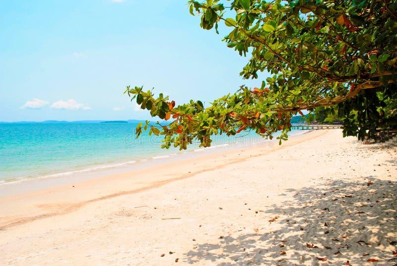 Playa de la independencia en Sihanoukville fotografía de archivo libre de regalías
