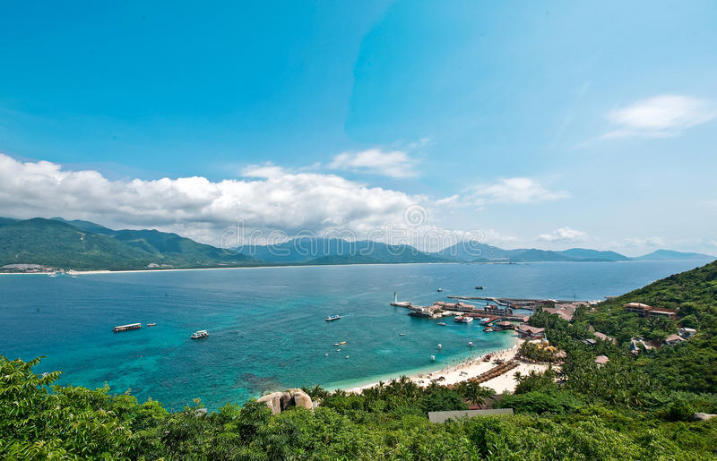 Playa de la isla de Hainan fotografía de archivo