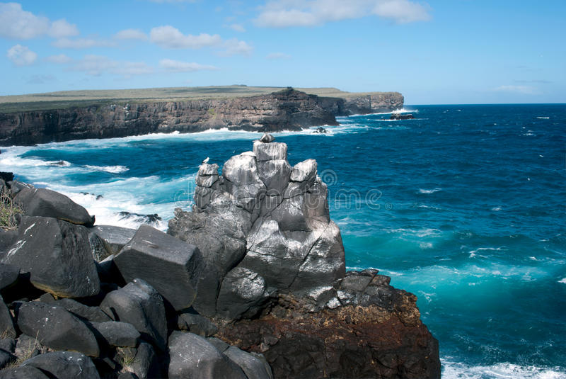 Playa de la isla de las Islas Galápagos fotos de archivo libres de regalías