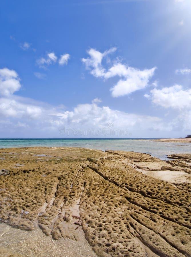 Playa de la isla de Okinawa en Japón foto de archivo libre de regalías