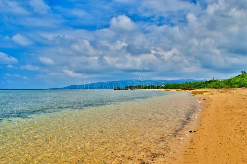 Playa de la isla de Taketomi en Japón foto de archivo libre de regalías