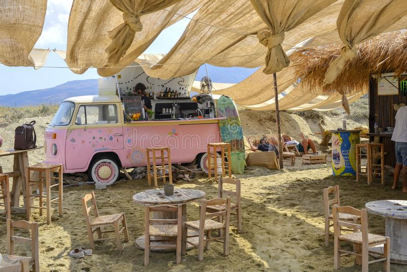 Playa de la isla de Tinos foto de archivo libre de regalías