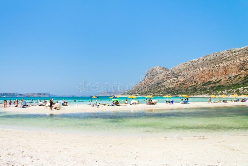 Playa de la laguna de Balos en Creta fotos de archivo libres de regalías