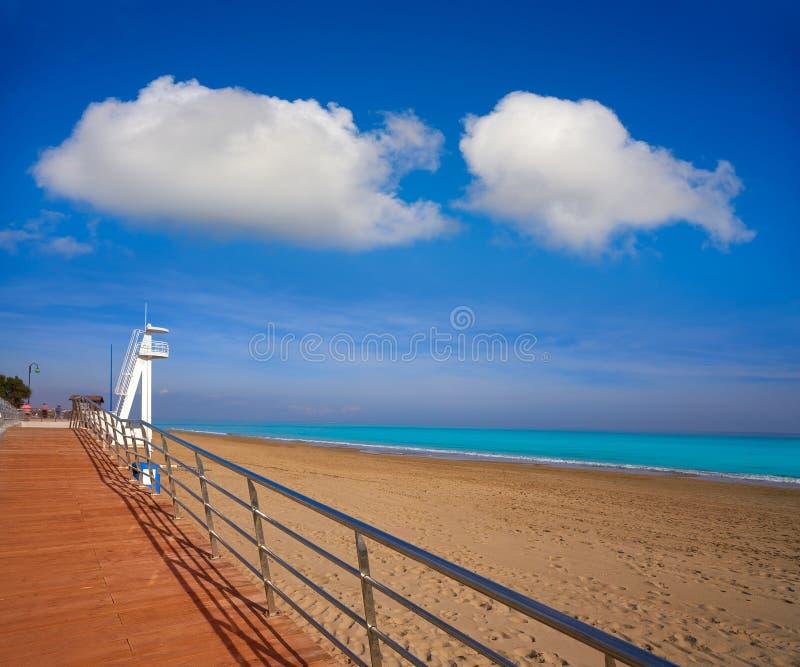 Playa de la Mata beach in Torrevieja Spain. Playa de la Mata beach in Torrevieja of Alicante in Spain at Costa Blanca royalty free stock photography