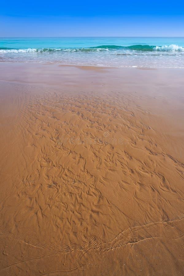Playa de la Mata beach in Torrevieja Spain. Playa de la Mata beach in Torrevieja of Alicante in Spain at Costa Blanca stock images