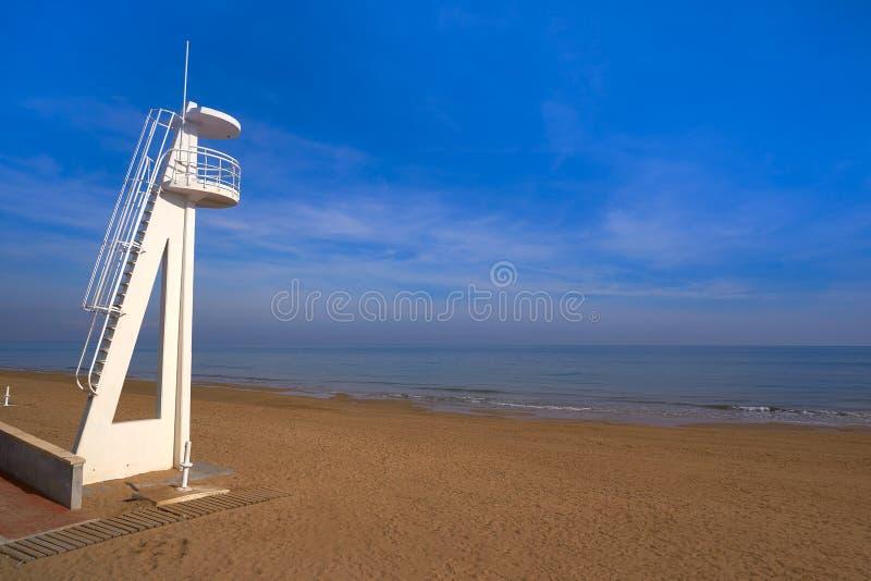 Playa de la Mata beach in Torrevieja Spain. Playa de la Mata beach in Torrevieja of Alicante in Spain at Costa Blanca stock photo