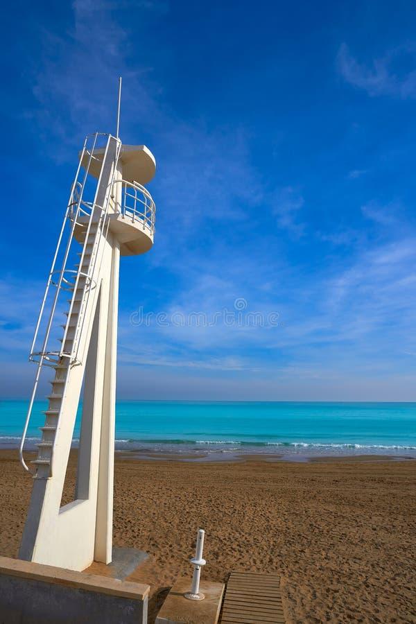 Playa de la Mata beach in Torrevieja Spain. Playa de la Mata beach in Torrevieja of Alicante in Spain at Costa Blanca stock photos