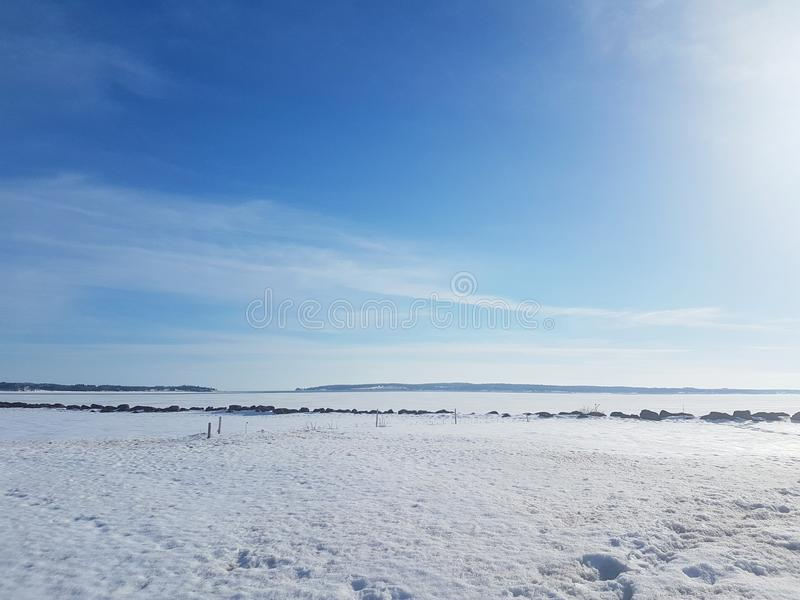 Playa de la nieve imagen de archivo