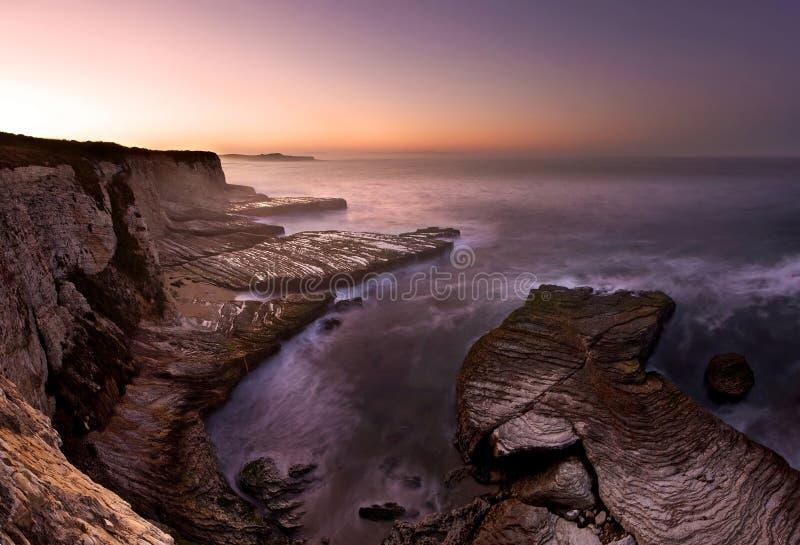 Playa de la pantera en el amanecer fotografía de archivo libre de regalías