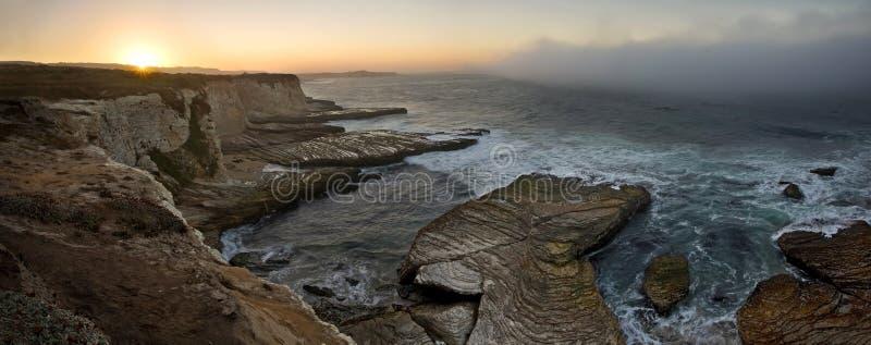 Playa de la pantera en la salida del sol fotos de archivo libres de regalías